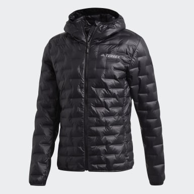 Muži TERREX čierna Bunda Light Down Hooded