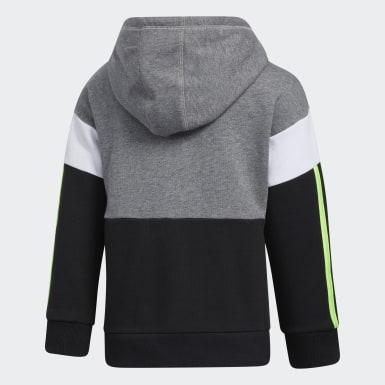 Youth Training Grey Core Colorblock Hoodie