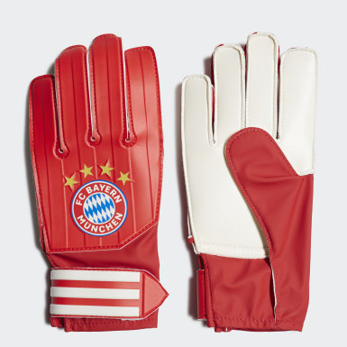 Youth 8-16 Years Football Red FC Bayern Goalkeeper Training Goalkeeper Gloves