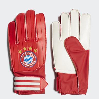 Děti Fotbal červená Tréninkové rukavice FC Bayern Goalkeeper