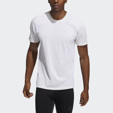 Men Studio Beige Studio Tech Techfit Seamless T-Shirt