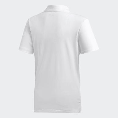 Playera polo Performance Blanco Niño Golf