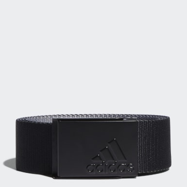 Men Golf Black Reversible Web Belt