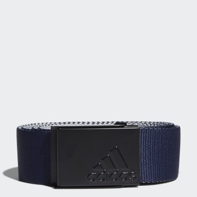 Men Golf Blue Reversible Web Belt