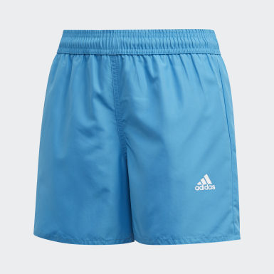 Boys Swimming Turquoise Classic Badge of Sport Swim Shorts
