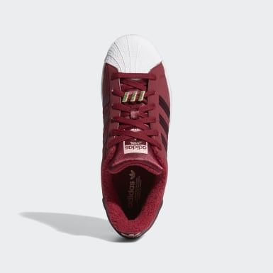 Women's Originals Burgundy Superstar Shoes