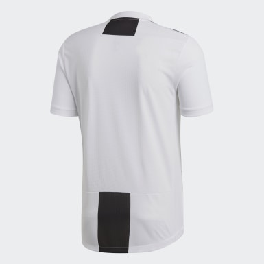 Men Football White Juventus Home Authentic Jersey