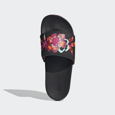 Ženy Plavání černá Pantofle adilette Comfort