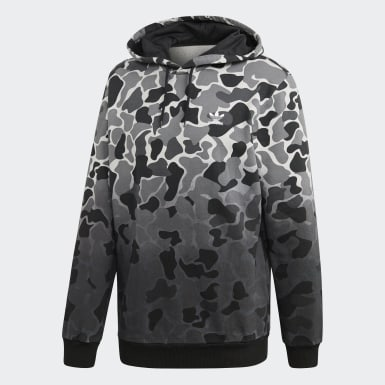 Blusa Capuz Camouflage Dip-Dyed