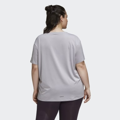 T-shirt Glam-On (Taglie forti) Grigio Donna Running