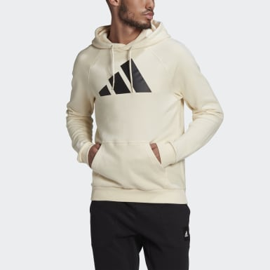 Men's Athletics Beige adidas Sportswear Badge of Sport Hoodie