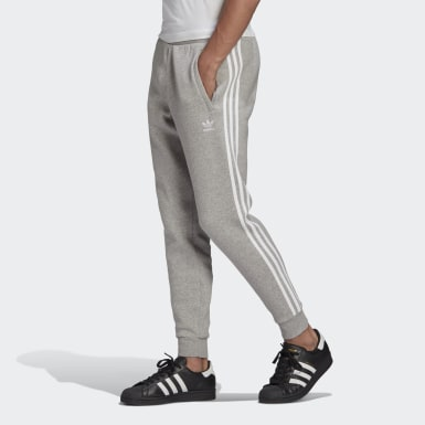 Men's Originals Grey Adicolor Classics 3-Stripes Pants