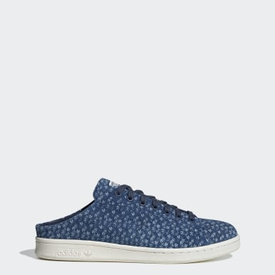 Originals Blue Stan Smith Mule Shoes