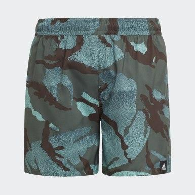 Short da nuoto Camouflage Verde Ragazzo Nuoto