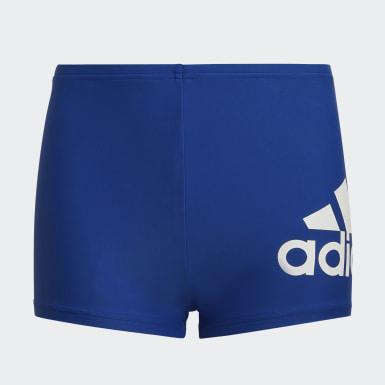 Jungen Schwimmen Badge of Sport Boxer-Badehose Blau