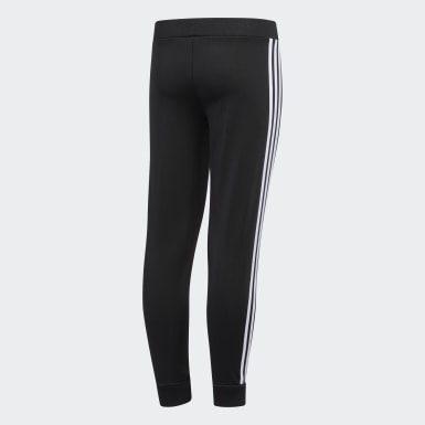 Youth Training Black Linear Tricot Joggers