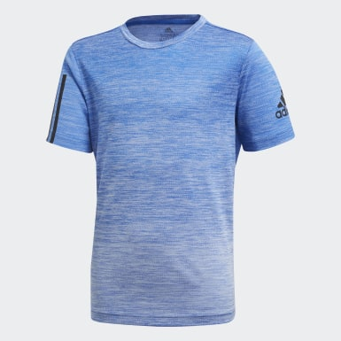 Boys Yoga Blue Gradient Tee