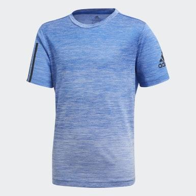 T-shirt Gradient Bleu Garçons Yoga