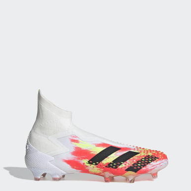 Soccer White Predator Mutator 20+ Firm Ground Cleats