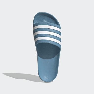 Chinelos Adilette Aqua Azul Mulher Natação