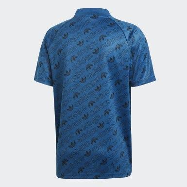 Camisa em Monograma Azul Homem Originals
