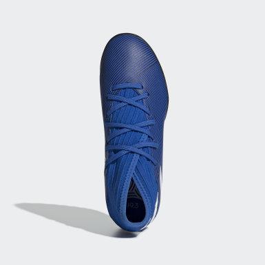 Children Football Blue Nemeziz 19.3 Turf Boots