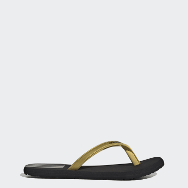 Women Swimming Gold Eezay Flip-Flops