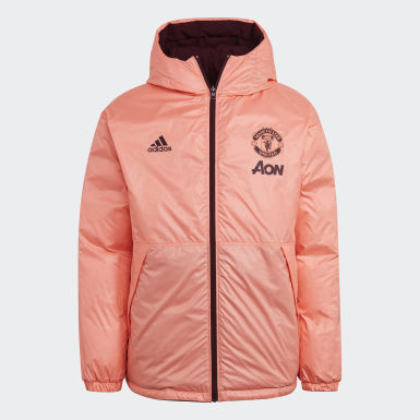 Männer Fußball Manchester United Reversible Travel Daunenjacke Rot