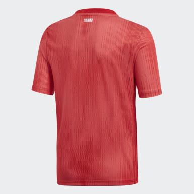 Camiseta Tercer Uniforme Real Madrid Réplica Rojo Niño Fútbol
