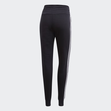 Women Training Black Essentials 3-Stripes Joggers
