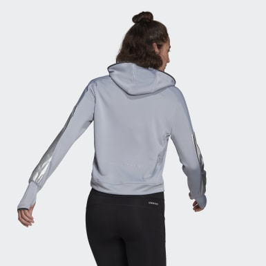 Frauen Running Space Race Hoodie Grau