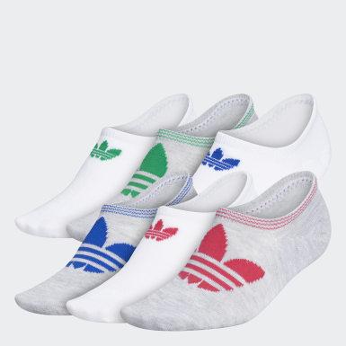 Women's Originals Multicolor Trefoil Superlite Super-No-Show Socks 6 Pairs
