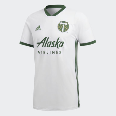 Men's Soccer White Portland Timbers Away Jersey