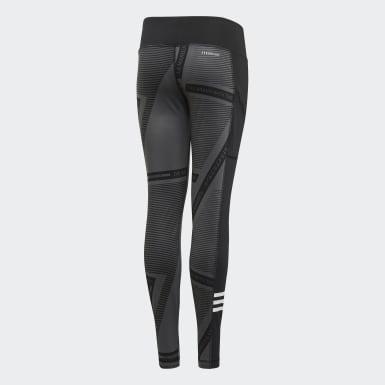 Girls Yoga Grey Branded Leggings
