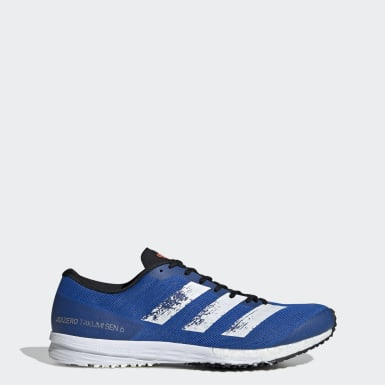 Men Running Blue Adizero Takumi Sen 6 Shoes