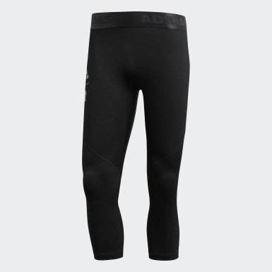 ผู้ชาย ไลฟ์สไตล์ สีดำ กางเกงรัดรูป adidas x UNDEFEATED Alphaskin Tech 3/4