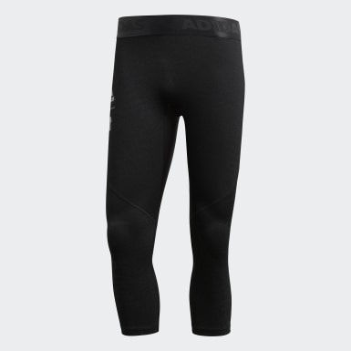 Men Lifestyle Black adidas x UNDEFEATED Alphaskin Tech 3/4 Tights