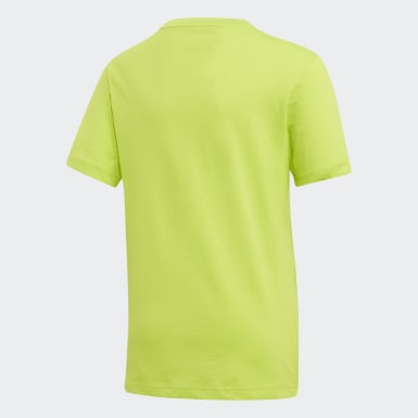 Camiseta Logo Essentials Linear Verde Meninos Training