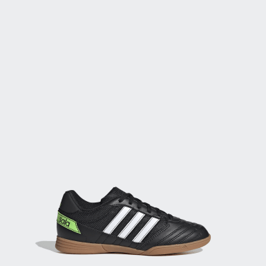 Children Soccer Black Super Sala Shoes