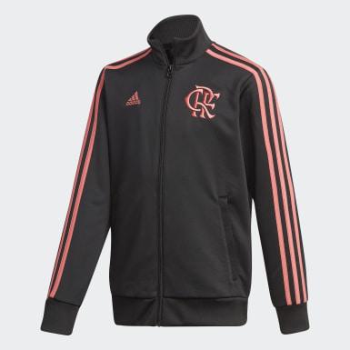 Jaqueta 3-Stripes CR Flamengo Preto Meninos Futebol