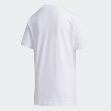 เด็กผู้ชาย Sport Inspired สีขาว เสื้อยืด
