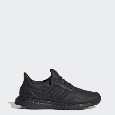 Running Black Ultraboost Leather Shoes