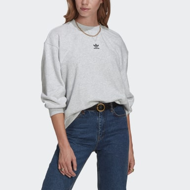 Women Originals Grey LOUNGEWEAR Adicolor Essentials Sweatshirt