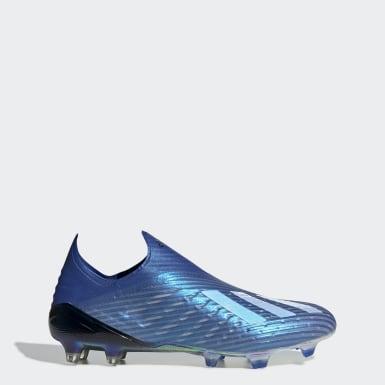 Botines X 19+ Terreno Firme Azul Hombre Fútbol