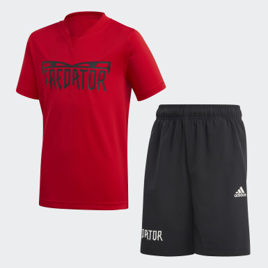 Boys Lifestyle Red Predator Summer Set