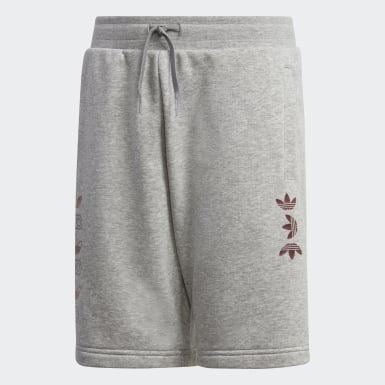 Youth Originals Grey Linear Logo Shorts