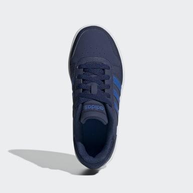 Kids Sport Inspired Blue Hoops 2.0 Shoes