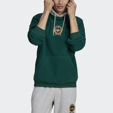 Men Originals Green Collegiate Crest Hoodie