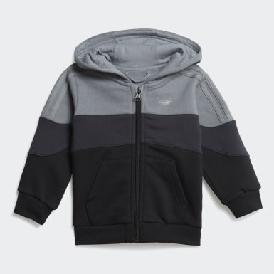 Barn Originals Grå BX-20 Full-Zip Hoodie Set