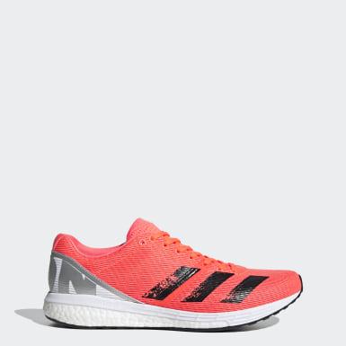Sapatos Adizero Boston 8 Laranja Homem Running